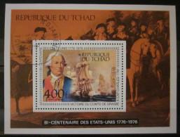 Tchad - Bloc YT BF 16 Obl - Bicentenaire Des Etats-Unis - Bateaux - Chevaux - Tchad (1960-...)