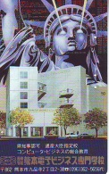 Telecarte JAPON (834) Statue De La Liberte * New York USA * PHONECARD JAPAN * STATUE OF LIBERTY * - Landschappen