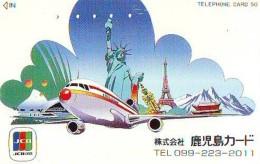 Telecarte JAPON (841) Statue De La Liberte * New York USA * PHONECARD JAPAN * STATUE OF LIBERTY * - Landschappen