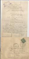 BALLON SARTHE MR GUET SUPPLEANT NOTAIRE LOUIS SENAULT LETTRE ET ENVELOPPE ET 2 MANDATS POSTE PARIS VAUGIRARD ANNEE 1920 - France