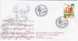 Brazil Brasil 1987 FDC Heitor Villa-Lobos, Music Musique Composer Compositeur - FDC
