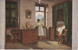 AK Schwind - Morgenstunde - Künstlerkarte Volkskunstverlag  (22778) - Peintures & Tableaux