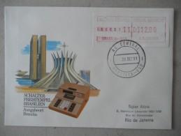 0058 Brasilien, Bresil, ATM 2.1, Automatenmarke Auf Brief / On Cover - Automatenmarken (Frama)