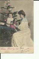 BO160  --   WEIHNACHTEN,  PERE NOEL, CHRISTMAS   --    GIRL, TOYS , DOLL  --  1915 - Natale