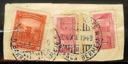 COLOMBIA 1949.12.24 [624&729-1] Fragment Of Postal History - BARRANCA BERMEJA Postmark - Colombie