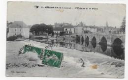 (RECTO / VERSO) CHABANNAIS EN 1914 - N° 4 - L' ECLUSE ET LE PONT - BEAU CACHET - CPA - France