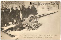 38 - Société De Tir De GRENOBLE - Premier Concours Français De Tir En Ski - 1910 ++++ B. F., Paris +++++ RARE / BIATHLON - Unclassified