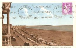 S -LA BAULE SUR MER EN LOIRE ATLANTIQUE  VUE GENERALE DE LA PLAGE  CPA CIRCULEE - La Baule-Escoublac