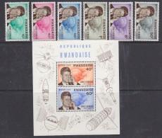 Rwanda 1965 John F. Kennedy / Space 6v + M/s ** Mnh (29452) - 1962-69: Ongebruikt