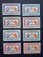Curacao 1941, Luchtpost  - 8 Zegels Postfris - Lp 18-25 - Curaçao, Nederlandse Antillen, Aruba