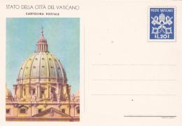 Vatican City 1953 Unused Postal Card Lire 20  S. Peter Dome - Vatican