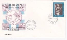Vatican City 1963 End II Session Of Conclave,souvenir Cover - Vatican