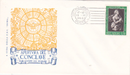 Vatican City 1963 Opening Of The Conclave,souvenir Cover - Vatican