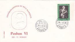 Vatican City 1963 Pope Paul VI Coronation ,souvenir Cover - Vatican