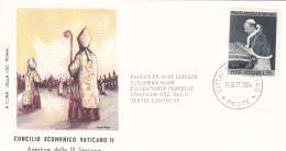 Vatican City 1964 Opening Of The Third Session Of Conclave,souvenir Cover - Vatican