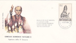 Vatican City 1964 Opening Of The Third Session Of Ecumenical Council ,souvenir Cover - Vatican