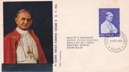 Vatican City 1965 Fourth Session Of The Ecumenical Council,souvenir Cover - Vatican