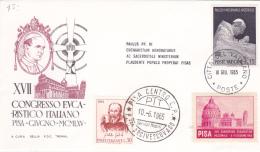 Vatican City 1965 XVII Eucharistic Congress In Pisa ,souvenir Cover - Vatican