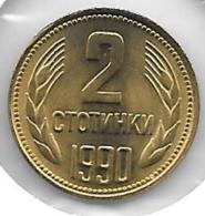 *Bulgaria 2 Stotinka 1990  Km 85  Bu !!! - Bulgarie