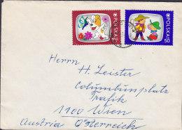 Poland BOCHNIA 1975 Cover Brief WIEN Austria 2x Comics Cartoon 4x Czien Znaczka Stamps (2 Scans) - Briefe U. Dokumente