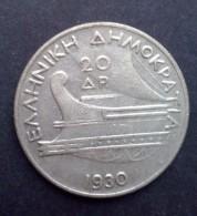 Griekenland 20 Drachmen 1930, Hoofd Van Poseidon (XF-, KM: 73) - Griekenland