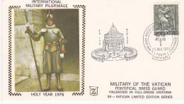 Vatican City 1975 Holy Year, Swiss Guard,Halbadier In Full-dress Uniform,souvenir Cover - Vatican
