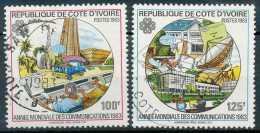 COTE D IVOIRE - N° 666A/B, Année Mondiale Des Communications, C:12,45€ - Unused Stamps