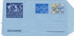 Vatican City 1979 Aerogramme Salvator Mundi With Additional Value - Vatican