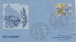 Vatican City 1980 Pope Visit Koln Souvenir Aerogramme - Vatican