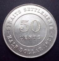 Straits Settlements 50 Cents 1921, George 5e (XF+, KM: 35,1) - Kolonies
