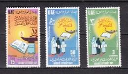 United Arab Emirates 1976,3V,set,Arab Litaracy Day,MNH/Postfris(A2463) - United Arab Emirates
