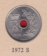 Denmark, 25 Øre, 1972 S ♥ S.  Copper-Nickel   KM 855.2 - Denmark