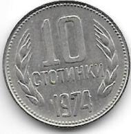 *Bulgaria 10 Stotinka 1974   Km87   Unc - Bulgarie