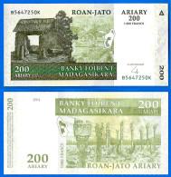 Madagascar 200 Ariary 2004 Neuf UNC 1000 Francs Africa Que Prix + Port Paypal Skrill Bitcoin - Madagascar