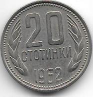 Bulgaria 20 Stotinka 1962   Km 63   Unc - Bulgarie
