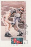 Carte Maximum  1er  Jour   Espagne    BOXE   Pré - Olympisme   BARCELONE  1992 - Pugilato