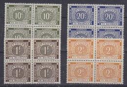 Belgisch Congo  1943 Strafport Tanding 12,5 4w (zonder 50c) Bl V. 4   ** Mnh (29474) - Belgisch-Kongo
