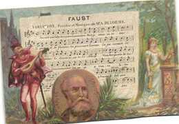 FAUST  Charles Gounot    Recto Verso Maidon Durand Patissier Confiseur Bayonne - Kaufmanns- Und Zigarettenbilder