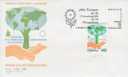 Enveloppe  FDC  1er  Jour  ESPAGNE  Année  Européenne  De  La  Conservation  De  La  Nature  1995 - Environment & Climate Protection