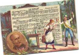 LE CHALET  Adolphe Adam    Recto Verso Maidon Durand Patissier Confiseur Bayonne - Kaufmanns- Und Zigarettenbilder