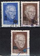 TURCHIA - 1989 - RITRATTO DI KEMAL ATATURK CON SOVRASTAMPA - USATI - 1921-... República