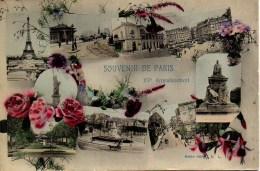 75 SOUVENIR De PARIS XVe  Carte Fantaisie - Arrondissement: 15