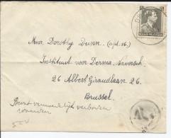 BELGIQUE - TIMBRE SUR ENVELOPPE AVEC CAD DWORP DU 22/03/1939 POUR BRUSSEL - Covers & Documents