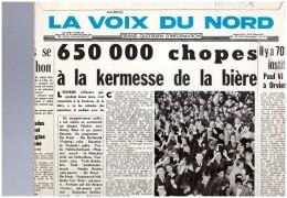 Kermesse De La Biere à MAUBEUGE  Disque  25 Cm La Voix Du Nord  Ein Prosit   Juli Fest - Vinyl Records