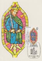 Carte Maximum  1er Jour   ESPAGNE   Vitraux   Artistiques    1983 - Vetri & Vetrate