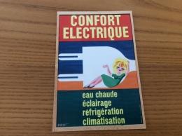 """Carte Postale Publicité """"EDF 70 ANS - INTENSÉMENT / CONFORT ELECTRIQUE"""" Neuve - Werbepostkarten"""