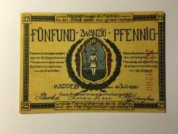 Allemagne Notgeld Kappeln 25 Pfennig 1921 NEUF - [ 3] 1918-1933 : République De Weimar