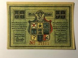 Allemagne Notgeld Kappeln 50 Pfennig 1921 NEUF - [ 3] 1918-1933 : République De Weimar