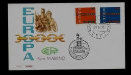 FDC  -EUROPA CEPT  - 1971  - SAN MARINO - 1971