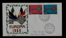 FDC  -EUROPA CEPT  - 1968  -   ITALY - Europa-CEPT